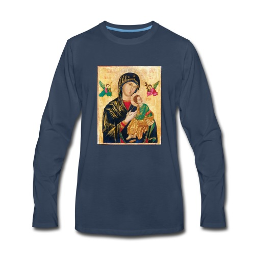 Icon of the Virgin Mary with baby Jesus - Men's Premium Long Sleeve T-Shirt