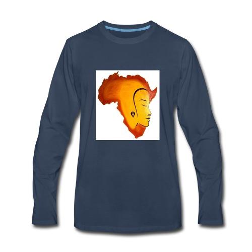 africa face - Men's Premium Long Sleeve T-Shirt