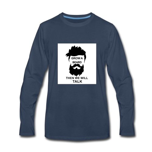 Beard - Men's Premium Long Sleeve T-Shirt