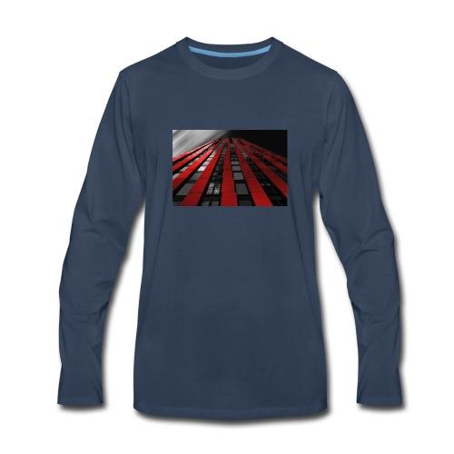 red, black & white - Men's Premium Long Sleeve T-Shirt