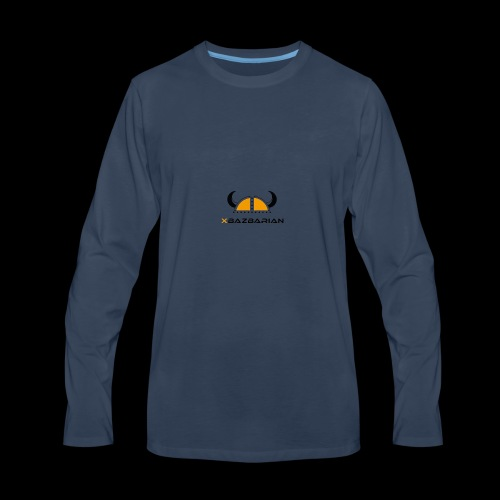 Bazbarian Logo - Men's Premium Long Sleeve T-Shirt