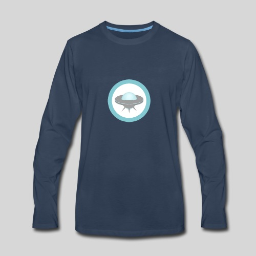 ALIENS WITH WIGS - Small UFO - Men's Premium Long Sleeve T-Shirt