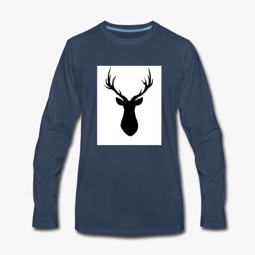 Rustic Antlers - Men's Premium Long Sleeve T-Shirt