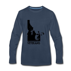 idaho hunting and fishing vets - Men's Premium Long Sleeve T-Shirt