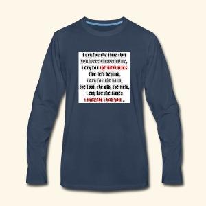 I CRY - Men's Premium Long Sleeve T-Shirt