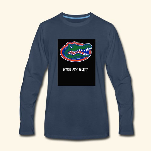 Gators kiss my butt - Men's Premium Long Sleeve T-Shirt