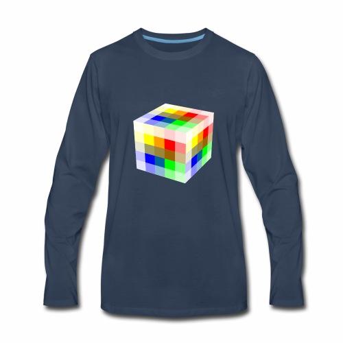 Multi Colored Cube - Men's Premium Long Sleeve T-Shirt