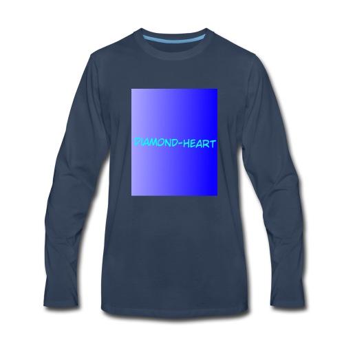 DiamondHeartmerch2 - Men's Premium Long Sleeve T-Shirt