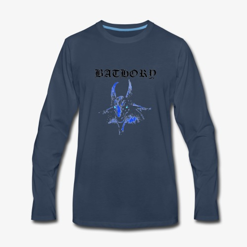 Bathory Classic Goat Logo T-Shirt - Official Merch - Men's Premium Long Sleeve T-Shirt