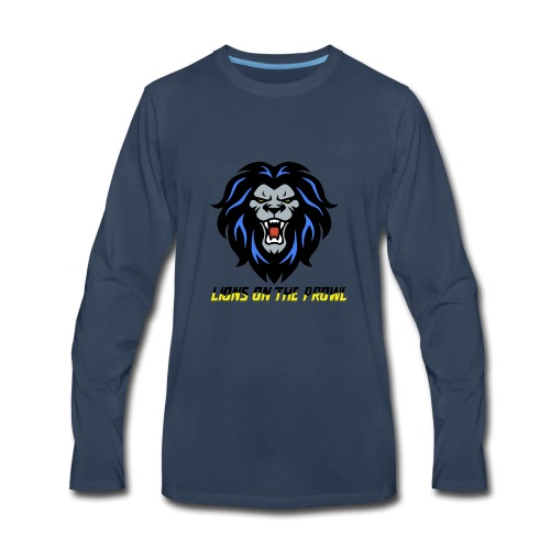 Lions On The Prowl` - Men's Premium Long Sleeve T-Shirt