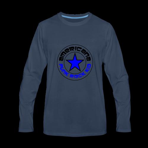 Americana Punk Rock Kid - Men's Premium Long Sleeve T-Shirt
