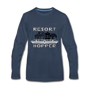 Resort Hopper Logo - Men's Premium Long Sleeve T-Shirt
