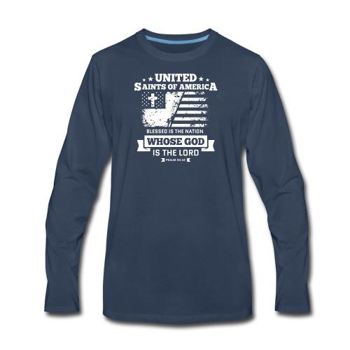 UnitedSaintsOfAmerica DesignHD 1 - Men's Premium Long Sleeve T-Shirt