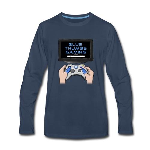 Blue Thumbs Gaming: Gamepad Logo - Men's Premium Long Sleeve T-Shirt
