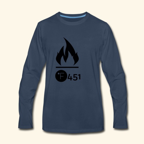 Farenheit 451 - Men's Premium Long Sleeve T-Shirt