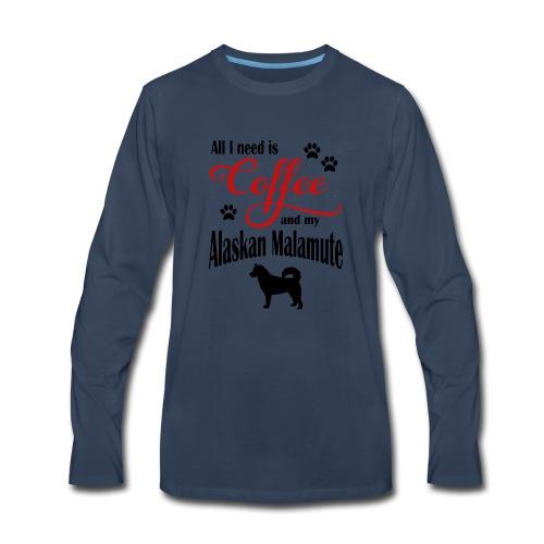 Alaskan Malamute Coffee - Men's Premium Long Sleeve T-Shirt