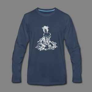 geisha white - Men's Premium Long Sleeve T-Shirt