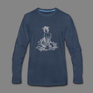 geisha gray - Men's Premium Long Sleeve T-Shirt