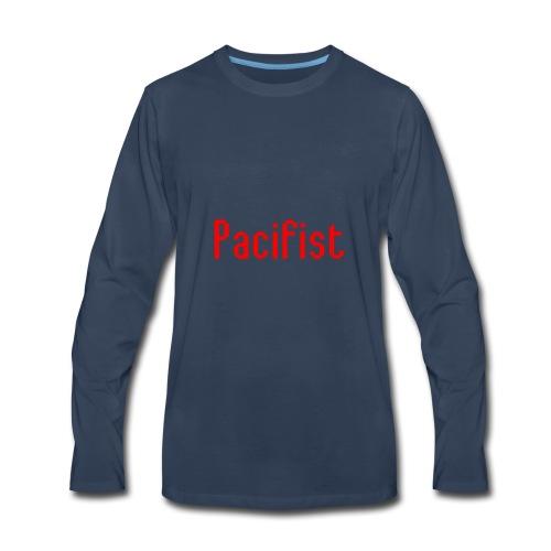 Pacifist T-Shirt Design - Men's Premium Long Sleeve T-Shirt