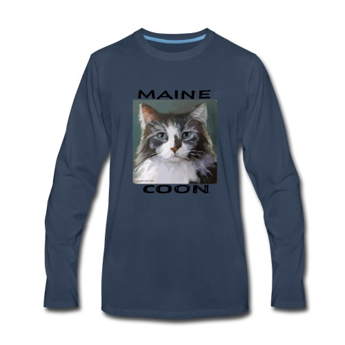 Maine Coon Cat - Men's Premium Long Sleeve T-Shirt