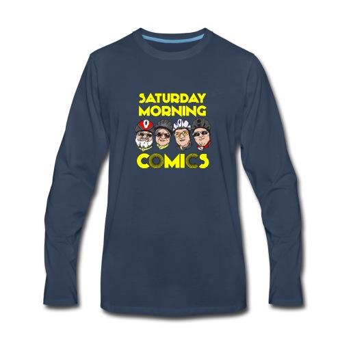 Saturday Morning Comics - Men's Premium Long Sleeve T-Shirt