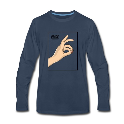 Peace Design by Ariff Firdaus - Men's Premium Long Sleeve T-Shirt