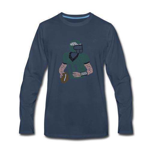 Carson Wentz Eagles Typography Shirt - Men's Premium Long Sleeve T-Shirt