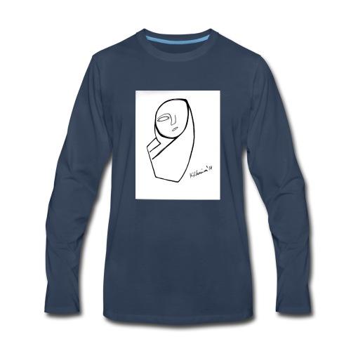 am drawing - Men's Premium Long Sleeve T-Shirt