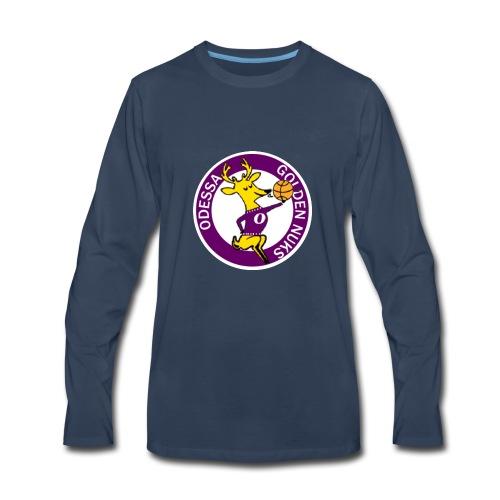Logo White Outline - Men's Premium Long Sleeve T-Shirt