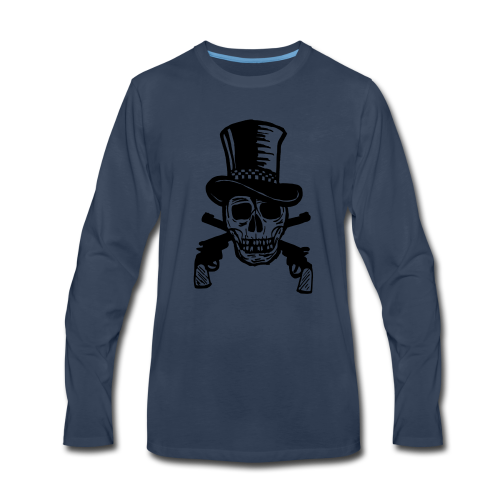 The Gunfighter Skull - Men's Premium Long Sleeve T-Shirt