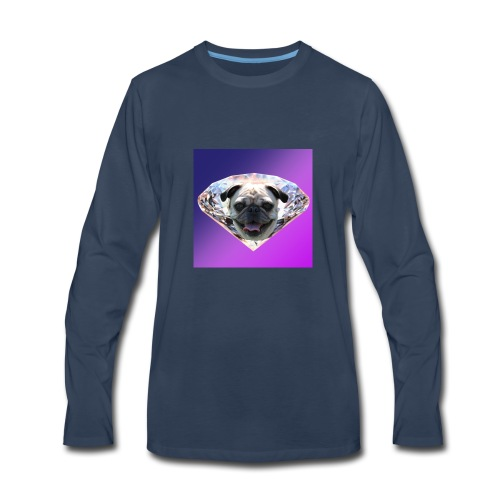 Diamond Pug - Men's Premium Long Sleeve T-Shirt