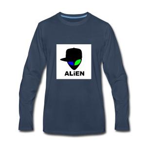 ALIEN LOGO - Men's Premium Long Sleeve T-Shirt