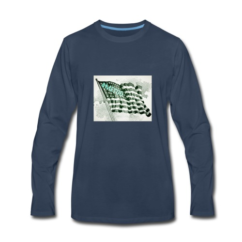 American Flag #METOO - Men's Premium Long Sleeve T-Shirt