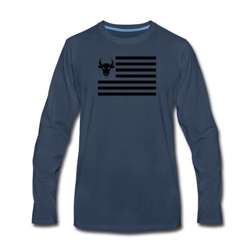 PivotBoss Flag Black - Men's Premium Long Sleeve T-Shirt