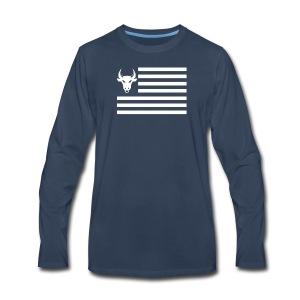 PivotBoss Flag White - Men's Premium Long Sleeve T-Shirt