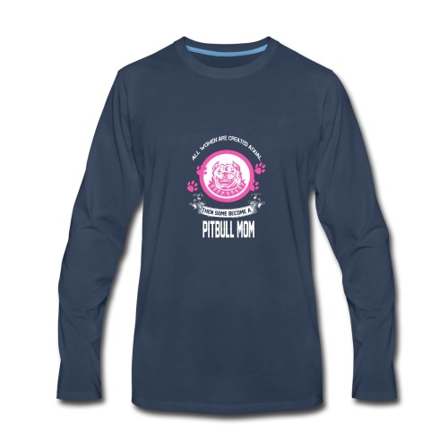 pitbullmom - Men's Premium Long Sleeve T-Shirt