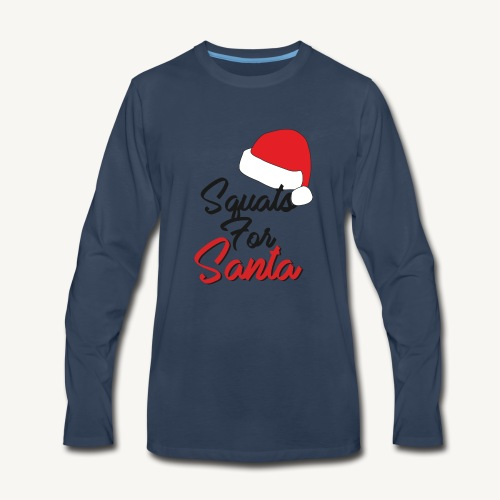 Squats For Santa - Men's Premium Long Sleeve T-Shirt