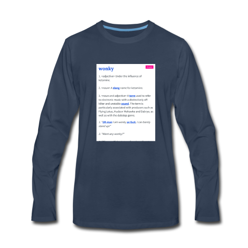 Stay Wonky - Men's Premium Long Sleeve T-Shirt