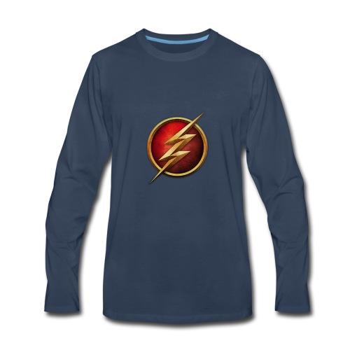 the_flash_logo_by_tremretr-d8uy5gu - Men's Premium Long Sleeve T-Shirt