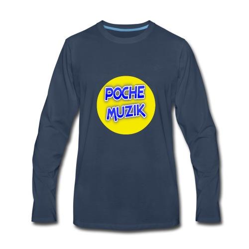 poche MUZIK - T-shirt Premium à manches longues pour hommes