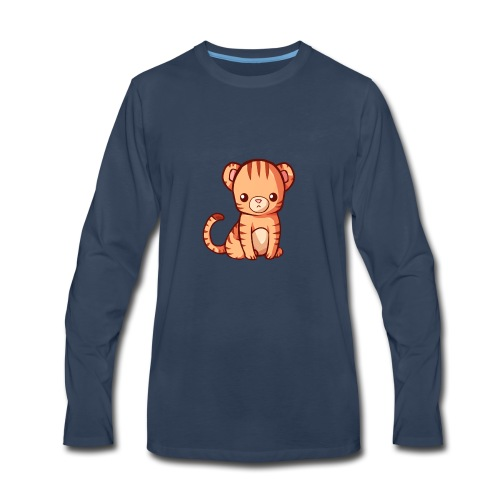 BlehhhhNation Tiger Kawaii - Men's Premium Long Sleeve T-Shirt