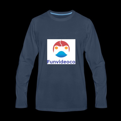 Fun Video Co logo - Men's Premium Long Sleeve T-Shirt