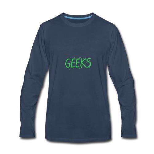 Geeks Merch - Men's Premium Long Sleeve T-Shirt