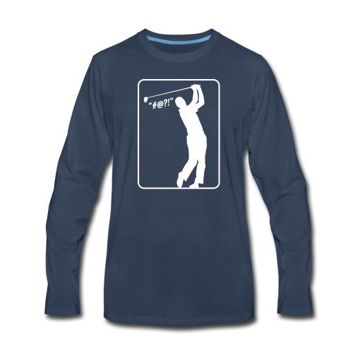 Golf Shot #@?! - Men's Premium Long Sleeve T-Shirt