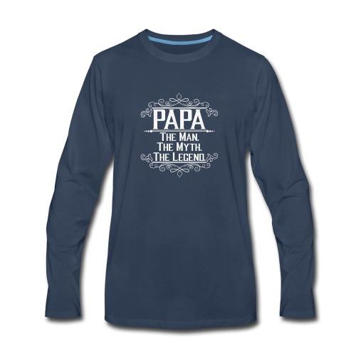 papa t shirt - Men's Premium Long Sleeve T-Shirt