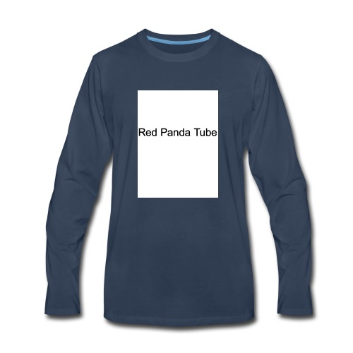 Red panda tube - Men's Premium Long Sleeve T-Shirt