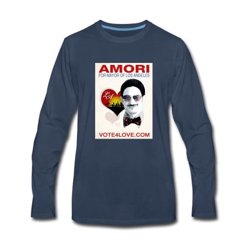 Amori for Mayor of Los Angeles eco friendly shirt - Men's Premium Long Sleeve T-Shirt