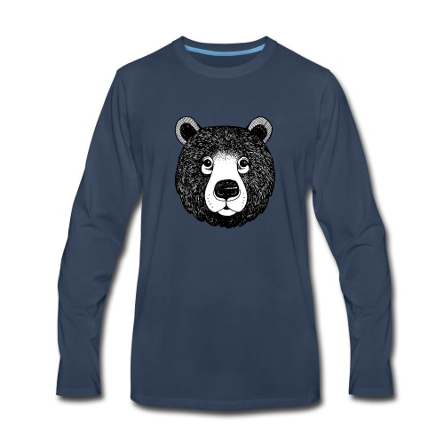 The head of bear - Men's Premium Long Sleeve T-Shirt