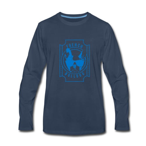 French Bulldog Blue - Men's Premium Long Sleeve T-Shirt