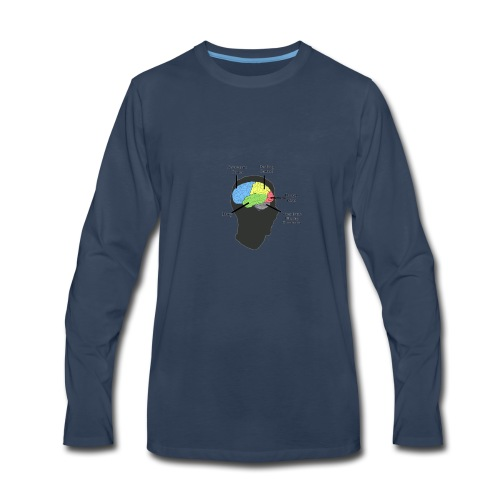 Corbin YT brain diagram - Men's Premium Long Sleeve T-Shirt